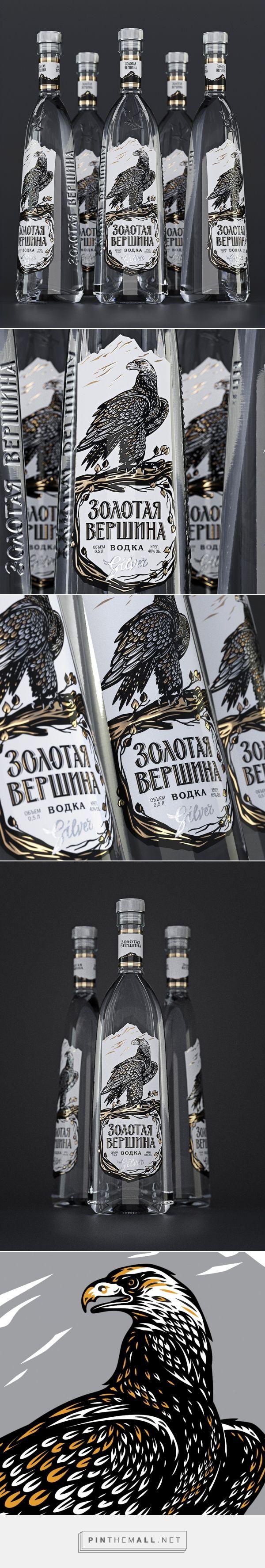 Golden Peak vodka packaging design by Nova Brand - https://www.packagingoftheworld.com/2018/03/golden-peak-zolotaya-vershyna.html