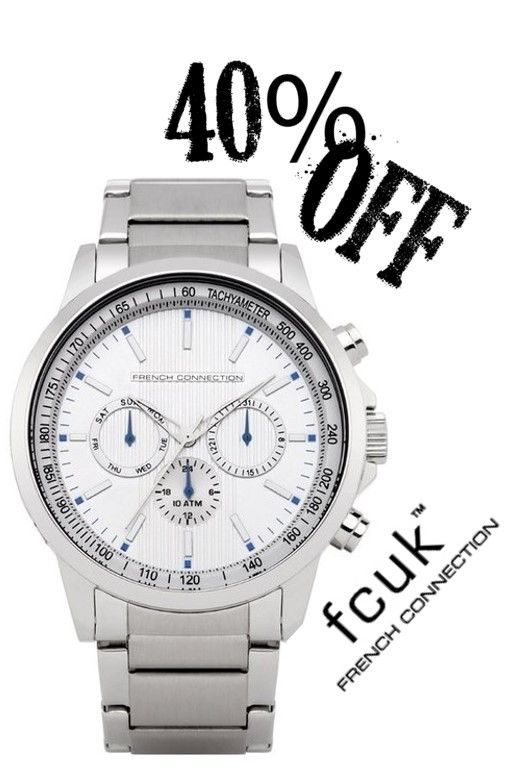 40% OFF French Connection Watches while stocks last @ www.justwatches.com.au