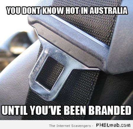 """""""You don't know hot in Australia meme at PMSLweb.com"""" true, dat. Going to day sporting events, doctors and basically anywhere you are out for hours can turn into a death sentence if you get in the car at any time other than after dark...."""