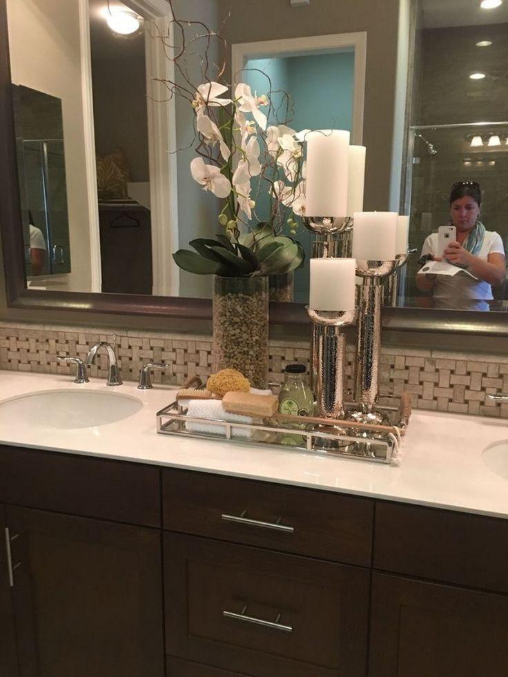 71 Fantastic Bathroom Countertop Ideas Look Elegant 1