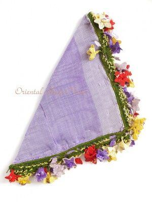 画像1: アイドゥン|アンティークオヤスカーフ|シルク糸|カラフル