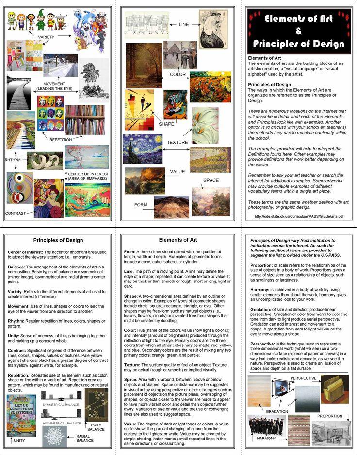 Principles Of Makeup Design Course: 428 Best Images About Art Lesson Worksheets On Pinterest