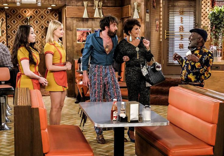 "Mercedes Ruehl  CBS Press Express | MAX AND CAROLINE FIND THEMSELVES OUT AS GODPARENTS WHEN OLEG'S MOTHER COMES TO VISIT FROM THE UKRAINE FOR BARBARA'S BAPTISM, ON ""2 BROKE GIRLS,"" MONDAY, OCT. 24"