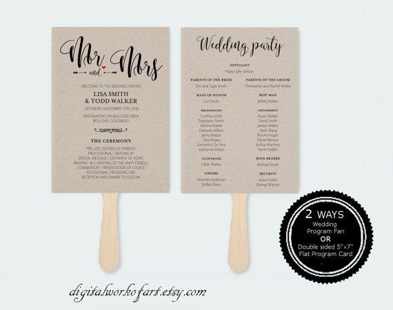 22 Best DIY Wedding Program Templates Images On Pinterest   Wedding Program  Template