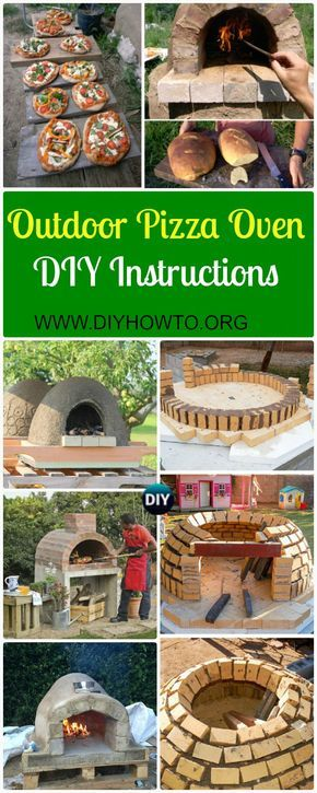 DIY Outdoor Pizza Oven Ideas & Projects [ Instructions]: DIY Pizza Oven from bricks, concrete, earth, pallets at low cost. via @diyhowto