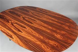 Piet Hein/Bruno Mathsson: Superellipse bord. Santos Palisander