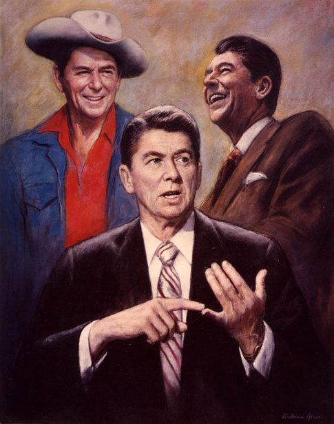 Ronald Reagan... One our countries greatest presidents ever. A true leader