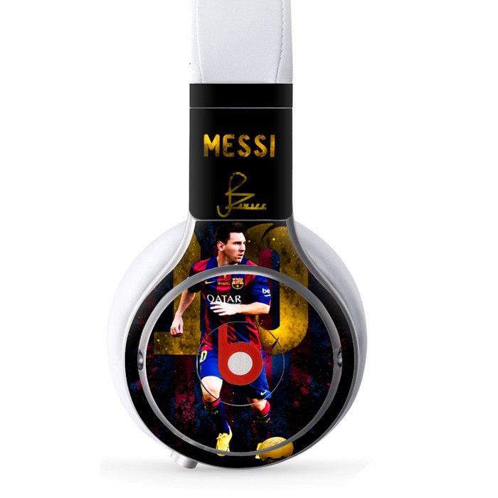 Messi decal for Monster Beats Pro wireless headphones