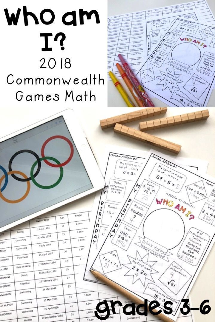 This is the PERFECT Maths warmup, investigation, revision or fast finisher task to complete during the Commonwealth Games. Your students will love solving each 'Who am I' while practising their maths skills and knowledge about Australian athletes {Year 3, Year 4, Year 5, Year 6, homeschool} #rainbowskycreations
