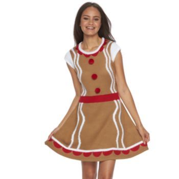 Juniors' It's Our Time Costume Christmas Sweaterdress