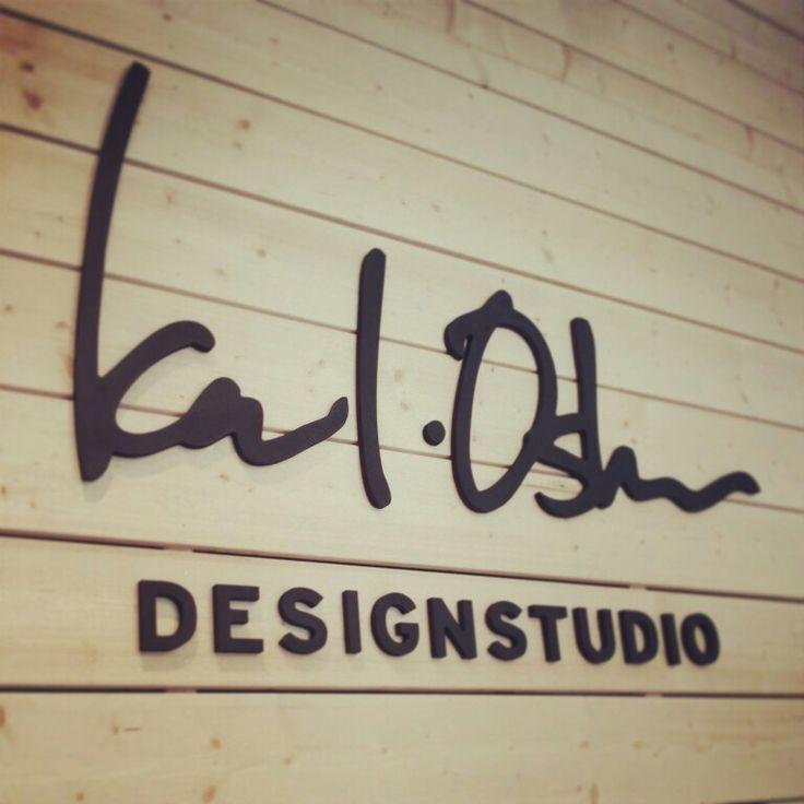 Logo on the wall. Karl-Oskar Designstudio in Gothenburg, Sweden. www.karloskardesignstudio.com