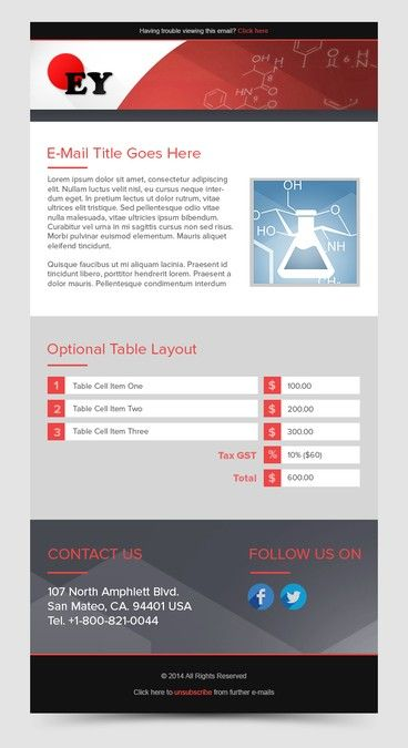 Creative Clean Unique Look : Newsletter/Order Confirmation Email Template by…