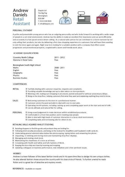 Retail Resume Example Entry Level -   wwwresumecareerinfo - examples of retail resumes