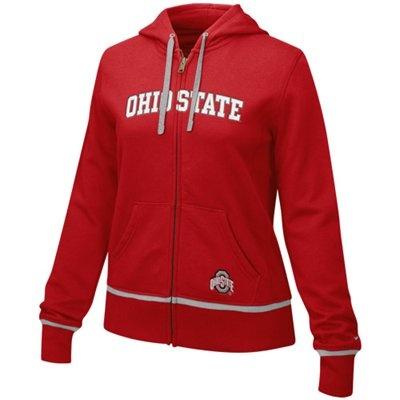 Nike Ohio State Buckeyes Ladies Scarlet Classic Full Zip Hoodie Sweatshirt