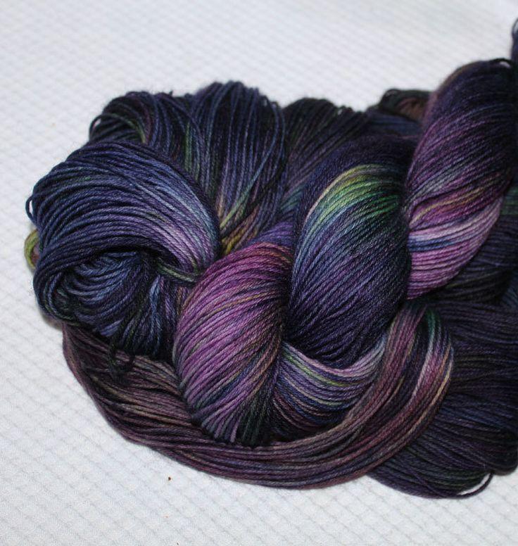 Superwash Merino  sock yarn;4-ply ;  Color:Black Hydrangea by WoolSilkLace on Etsy https://www.etsy.com/listing/193347338/superwash-merino-sock-yarn4-ply