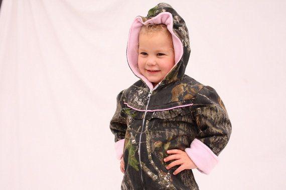 Girls coat baby girl camo MossyOak BU fleece by haddygrace on Etsy, $72.00