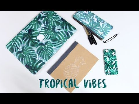 DIY trousse SANS couture // Tropical Vibes - YouTube