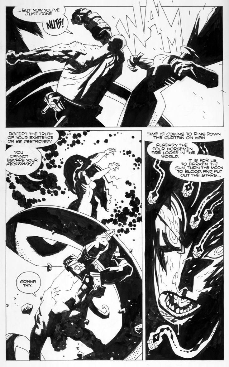 Mignola. Hellboy Comic Art