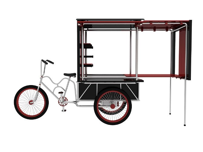 expandable bike cart