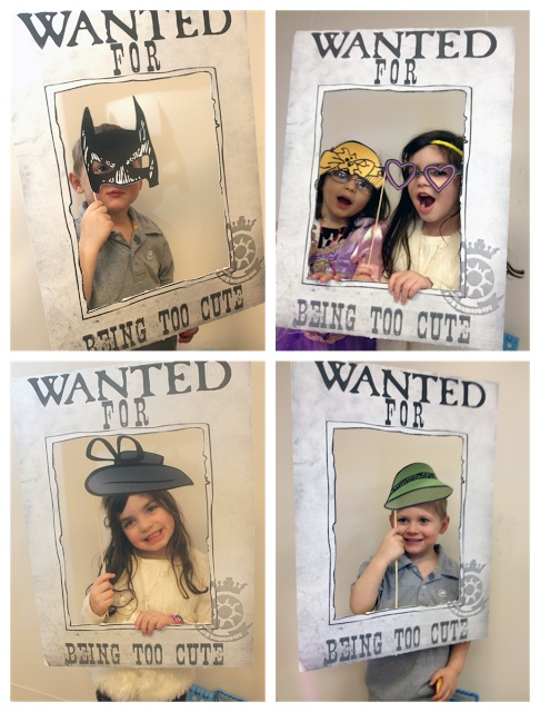 Wanted Photo Booth this would be cute with some more props.