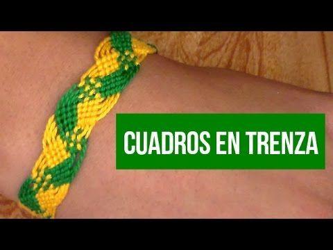 Pulsera de Hilo: Cuadros en Trenza (intermedio:) - YouTube #peinadosartisticos