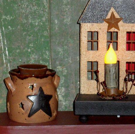 Wide Star Crock Tart Burner-Tart Burner,Crock Tart Burner,Wide Star Tart Burner,Tealight,Tart Melter,Scented Tarts
