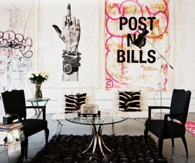 Graffiti, art, decor, restaurants, coffee shop, lounge, gathering spot, trendy.   Karen Fron Interior Design | Calgary
