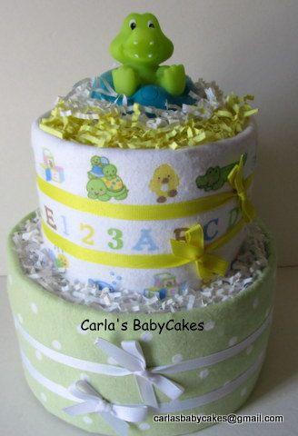 Neutral  Diaper Cake Baby Diaper CakeNew Mom by MsCarlasBabyCakes, $42.00