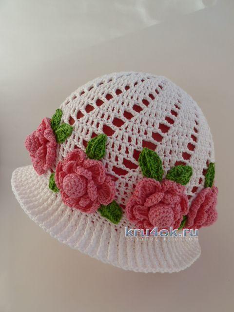 Вязаные крючком шапочки - работы Марины Стоякиной