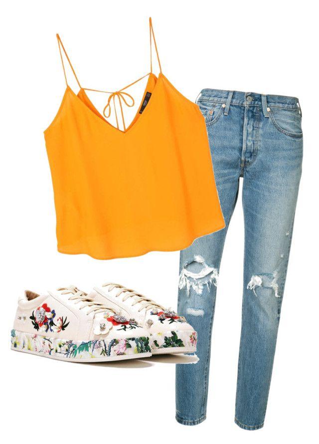 """casual"" by nori-nagy on Polyvore featuring Levi's, MANGO and Nasty Gal"