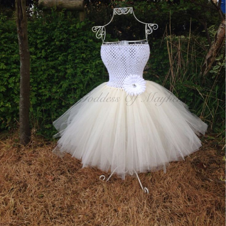 Simple flower tutu dress