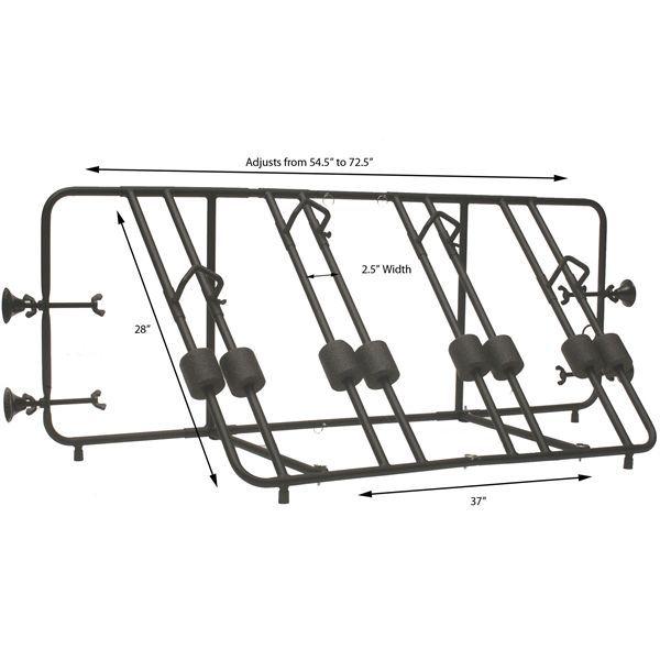Full Dimensions of the Advantage Truck Bike Rack
