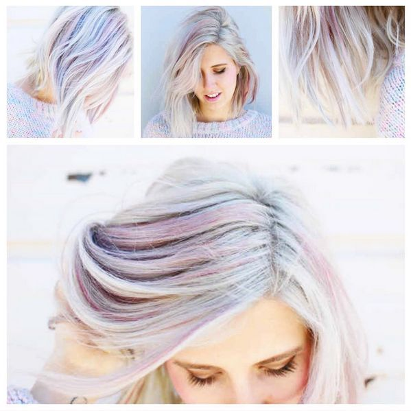 nice Opal Hair: The Latest Pastel Rainbow Hair Trend - Rainbow Hair Colour