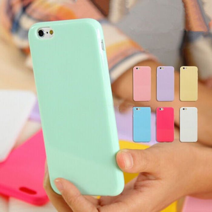 Silicone Cute Candy Rubber Gel TPU Case Cover For iPhone 4 4S 5 5C 5S 6 6 Plus