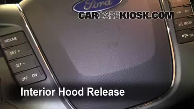 How to Jumpstart a 2010-2013 Ford Taurus - 2011 Ford Taurus SEL 3.5L V6