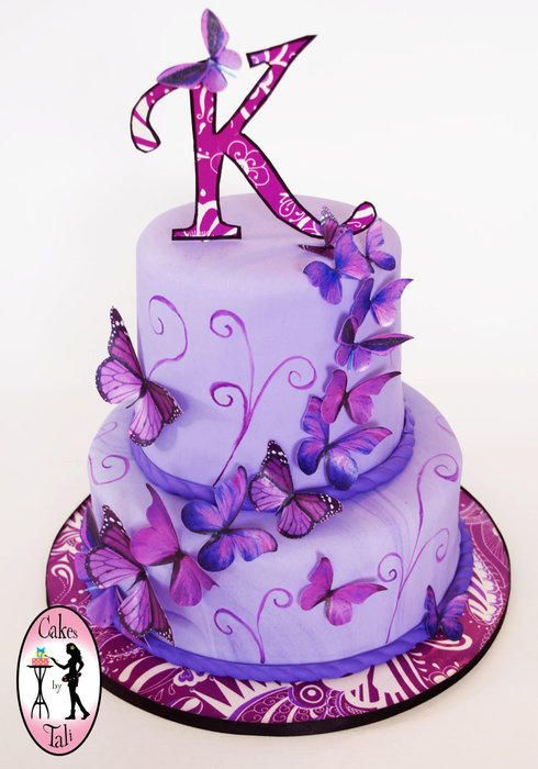 I made this cake for Kylee's 17th birthday, she loves purple and butterflies :)
