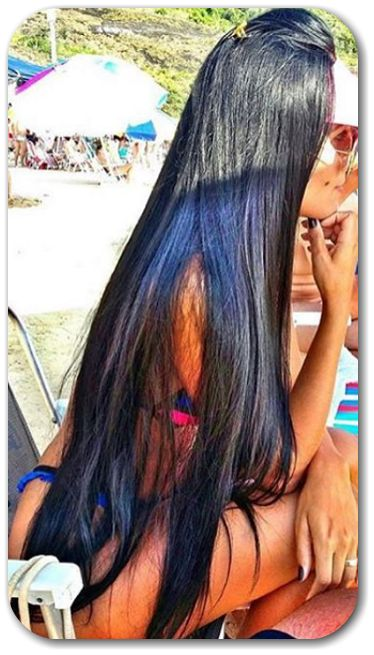 beautiful long hair extremely long silky