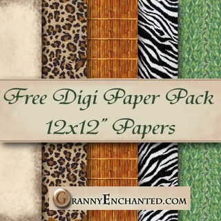 Free digi scrapbook paper pack