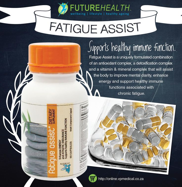 Fatigue Assist is a uniquely formulated combination of an antioxidant complex, a detoxification complex and a vitamin & mineral complex Buy online and get 10% off http://online.vpmedical.co.za/index.php?route=product/category&path=64