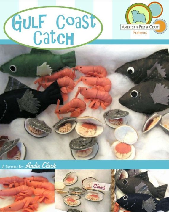 Felt Food PDF Pattern Gulf Coast Catch by AmericanFeltandCraft, $5.50