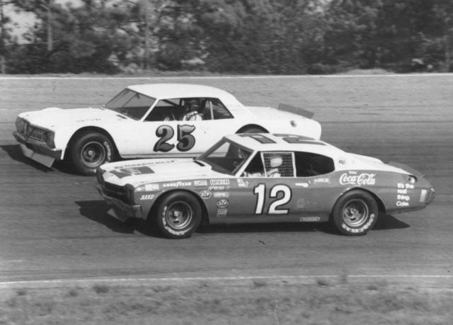 pete hamilton 25 and neil bonnett 12 during an early 1970s snowball derby in pensacola fl. Black Bedroom Furniture Sets. Home Design Ideas