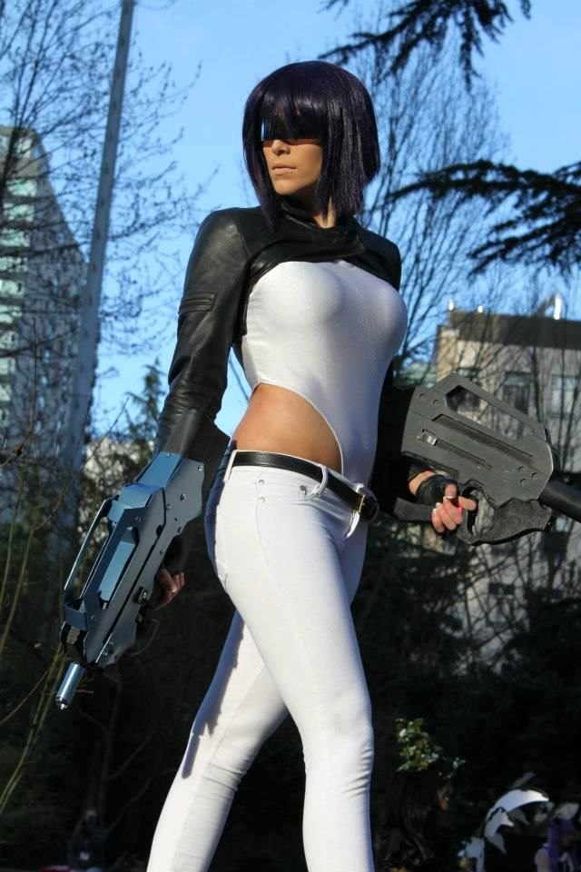 The major ghost in the shell cosplay