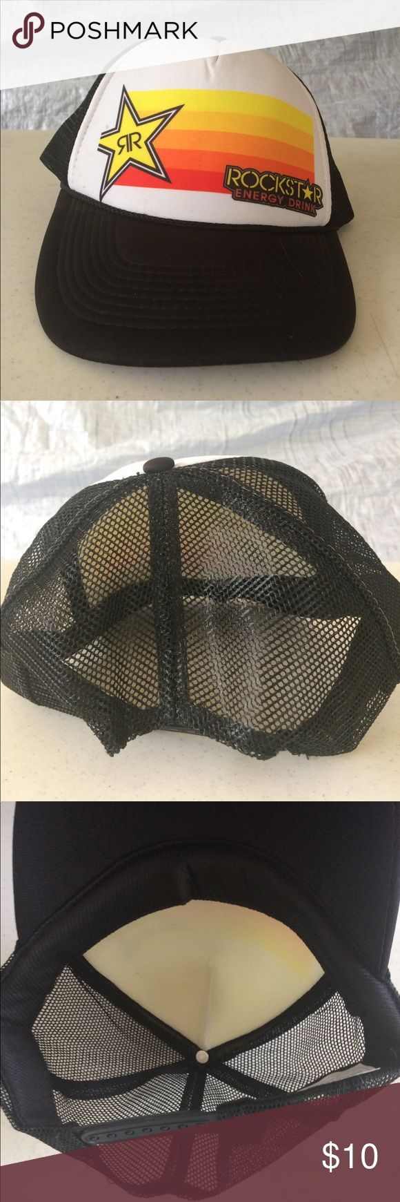 Rockstar energy drink mesh cap Good shape. Does not look like it was ever worn. Small spot (see pic) Rockstar Accessories Hats