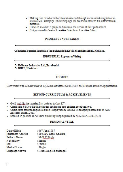The  Best Resume Format Free Download Ideas On