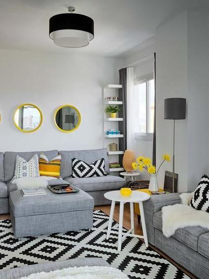 Casa moderna: Estanterías en el salón