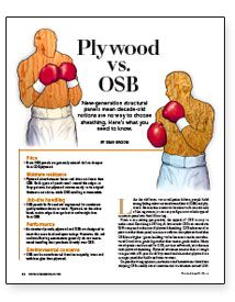 Plywood vs. OSB