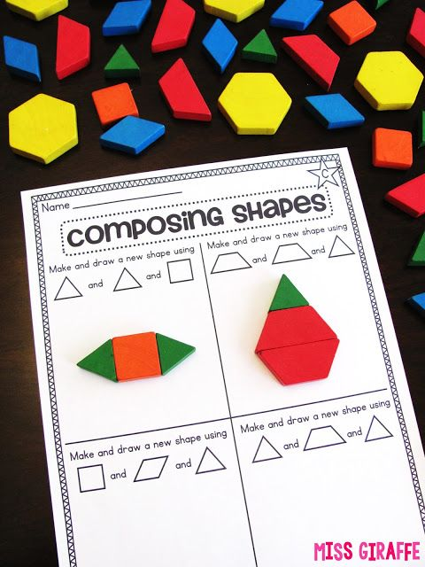 Composing Shapes is such a fun topic in first grade and kindergarten geometry! Learning how to compose 2D and 3D shapes is fun because, well...