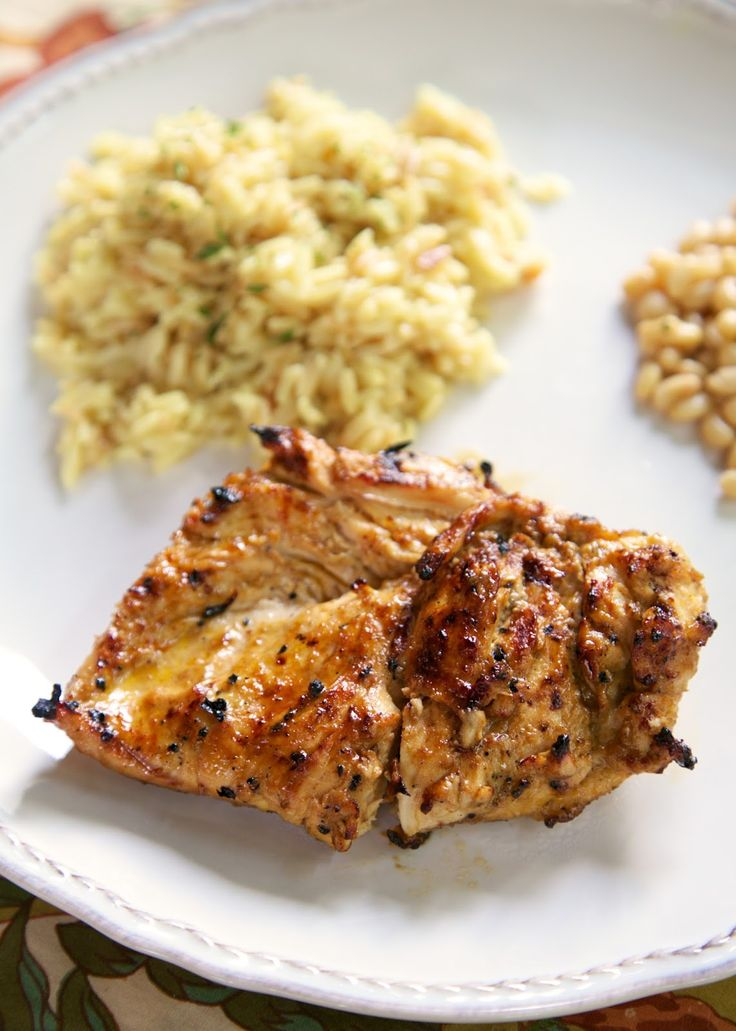 BBQ Ranch Grilled Chicken - chicken marinated in BBQ and Ranch - SO good. He asked me to make it again the next day!