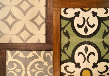 Concrete Cement Tile with wood accents... beautiful mix of rustic and modern | arketype.us