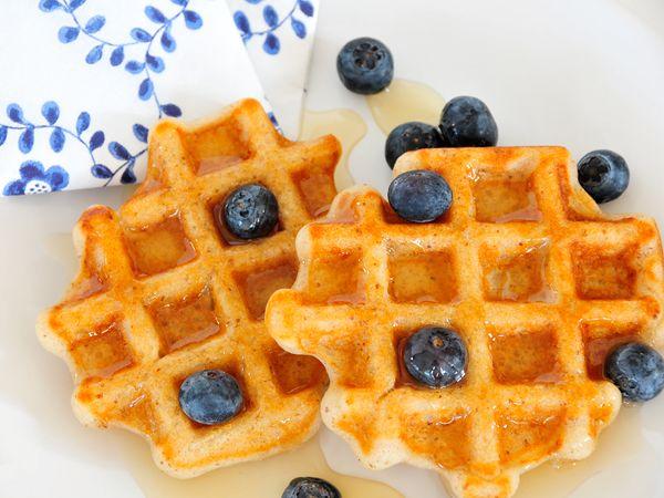 Glutenfreie Waffeln vegan (ohne Ei, ohne Milch) & fructosearm